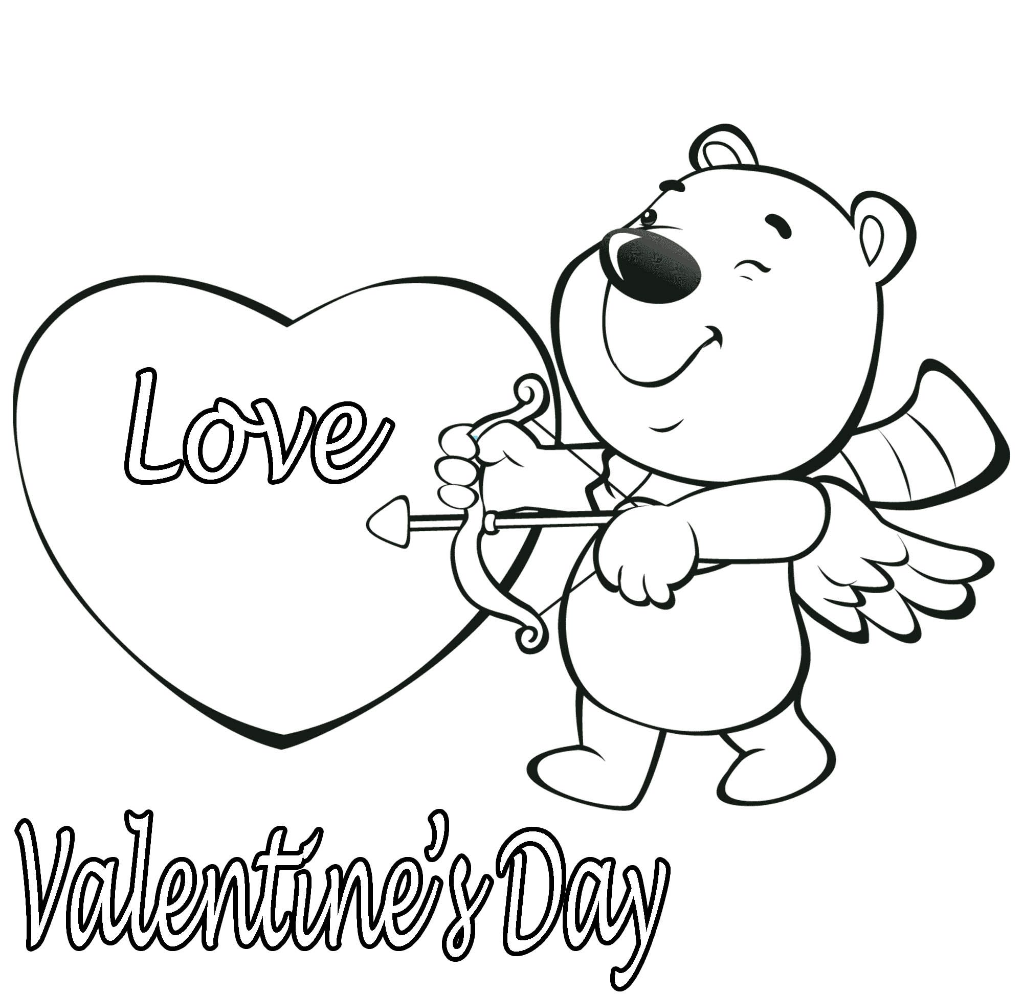 2000x1944 New Valentines Day Bear Coloring Pages