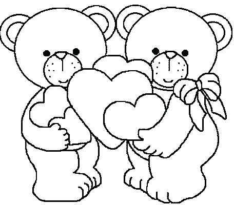 456x400 Bear Coloring Pages Preschool Coloring Page Valentine Bears