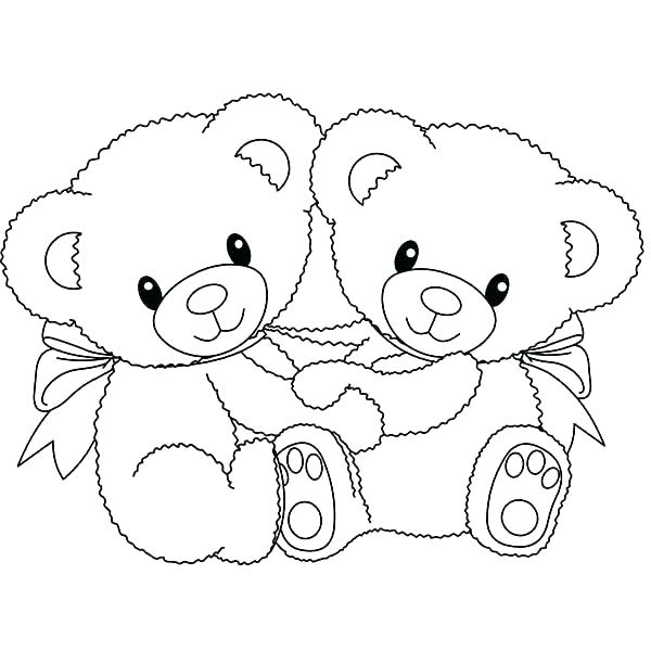 600x600 Tatty Teddy Coloring Pages Valentine Teddy Bear Coloring Pages