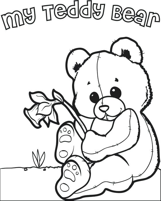 561x700 Teddy Bear Coloring Pages Free Printable Valentines Day Teddy Bear