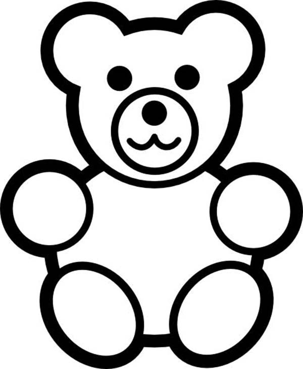 600x732 Teddy Bear For Little Brother Coloring Page Color Luna