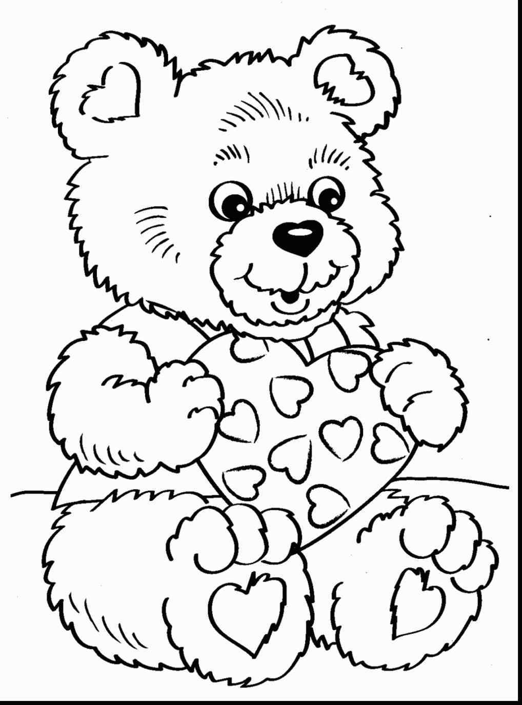1018x1375 Bear Kids Bear Valentines Day Teddy Bear Coloring Pages Coloring