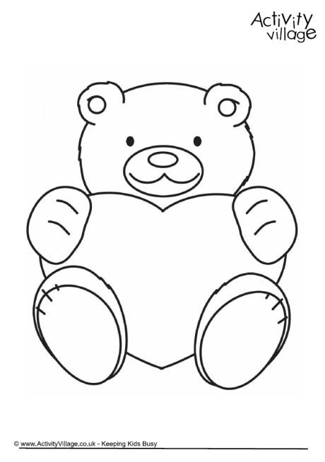 460x654 Valentine Teddy Colouring Page Valentine's Day For Kids