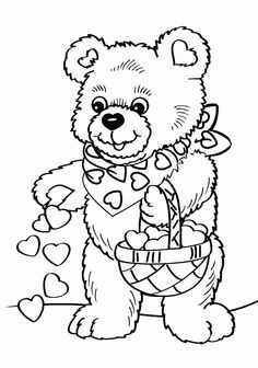 236x336 Valentines Day Bear Coloring Pages Copy Valentine