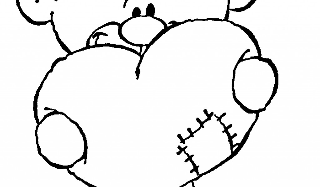 1024x600 Free Teddy Bear Valentines Coloring Pagesfree Coloring Pages