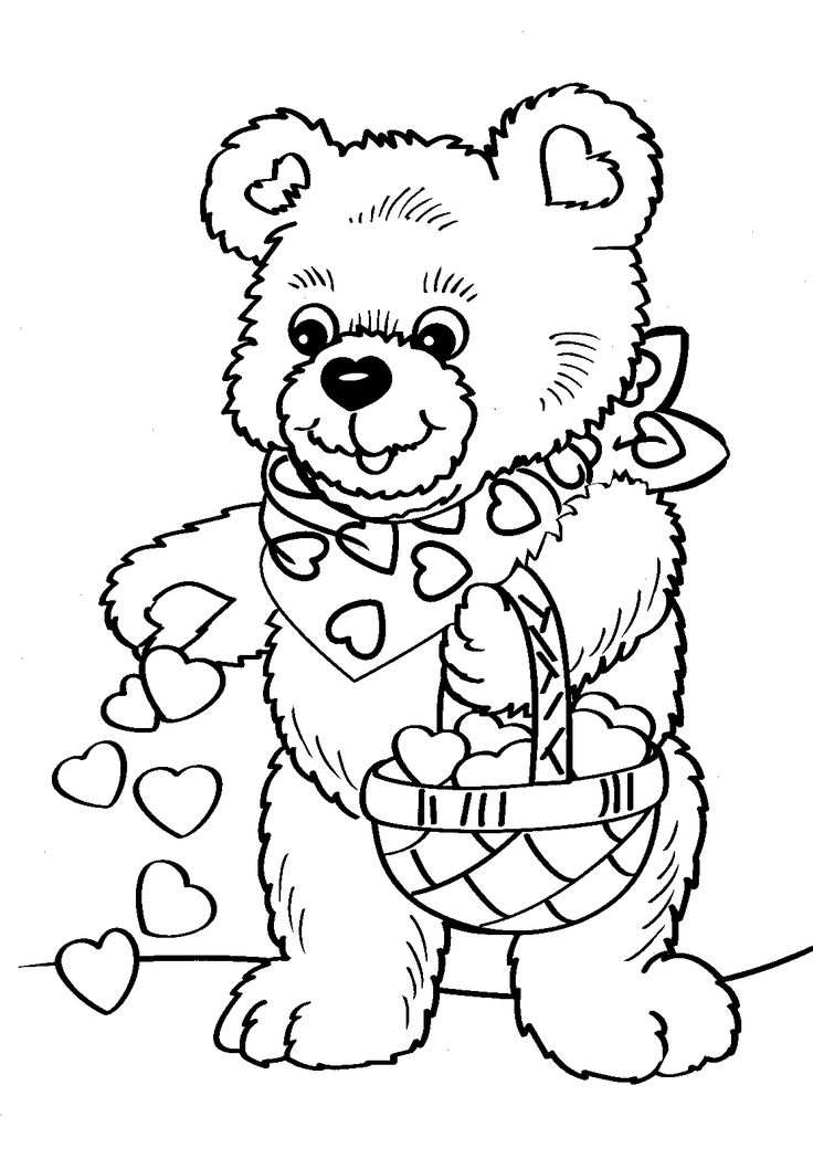 736x1049 Coloring Pages For Valentines Day