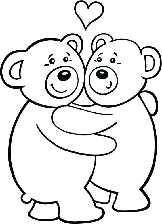 563x775 Valentine Bear Coloring Pages