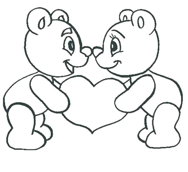 630x578 Coloring Pages Teddy Bears Valentine Teddy Bear Holding Rose