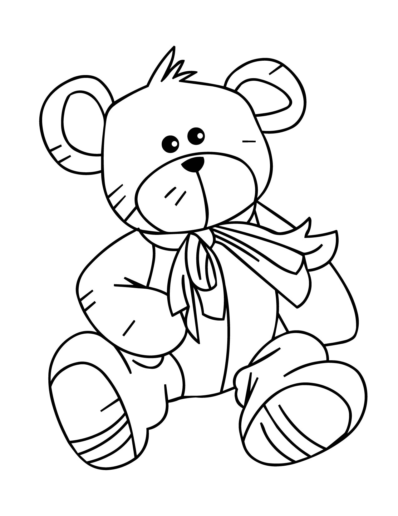 1275x1650 Cute Teddy Bear Coloring Pages