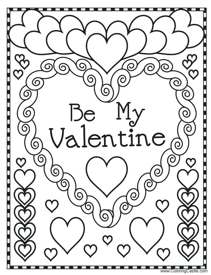 716x933 Printable Heart Coloring Pages Valentines Coloring Pages Printable