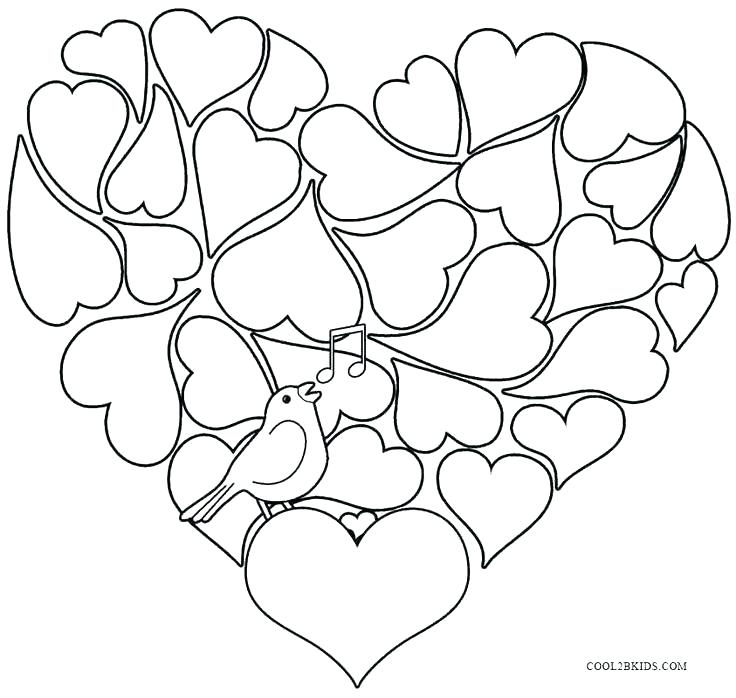 736x698 Valentines Coloring Pages Disney Page Printable Valentine Day