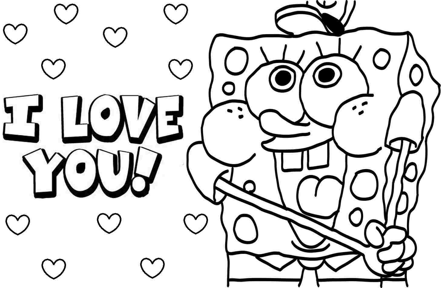 1460x952 For Kid Spongebob Printable Coloring Pages In Free Throughout
