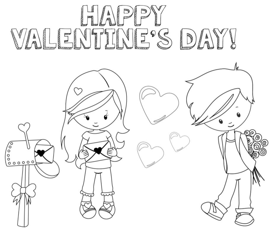 922x774 Valentines Coloring Pages