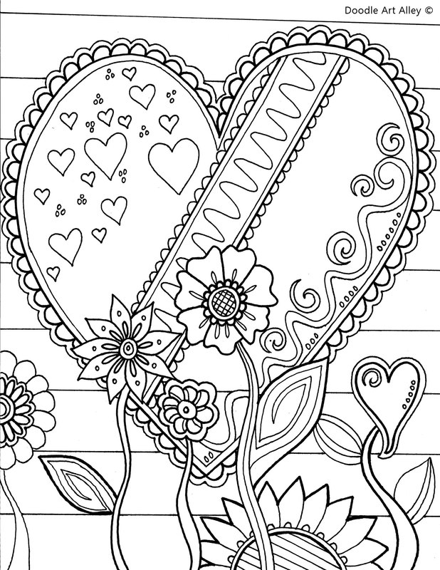 618x800 Valentines Day Coloring Pages