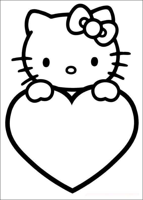 567x794 Valentines Day Coloring Pages Hello Kitty