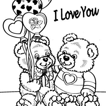 350x350 Happy Valentines Coloring Pages On Happy Valentines Day Coloring