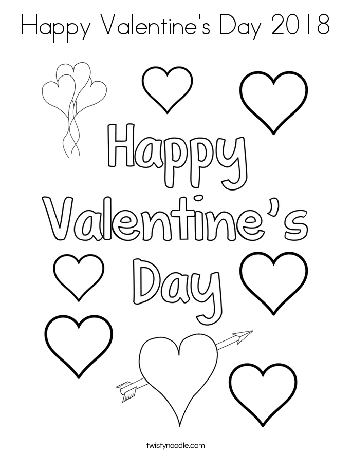 685x886 Happy Valentine's Day Coloring Page