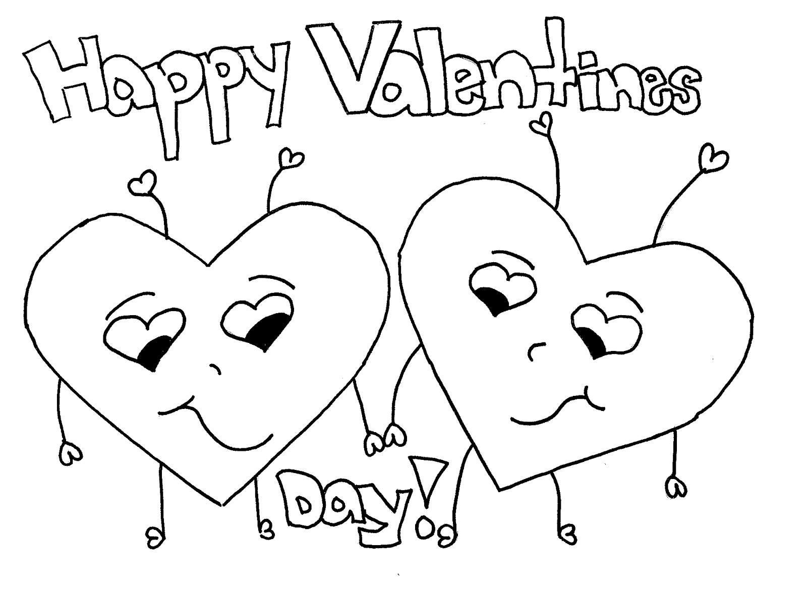 1600x1174 Heart Coloring Pages Kids Valentines Hearts Brilliant Valentine S