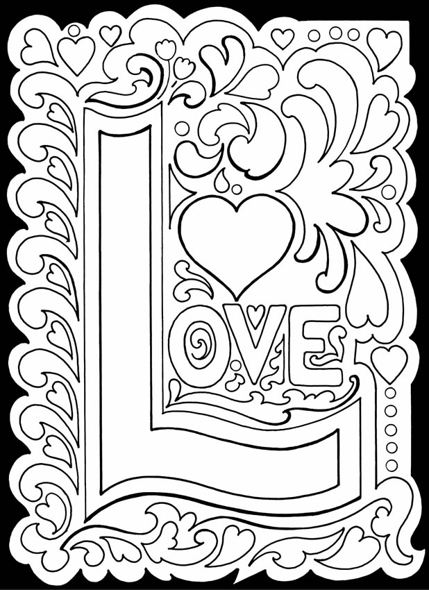 618x850 Printable Valentine's Day Coloring Pages