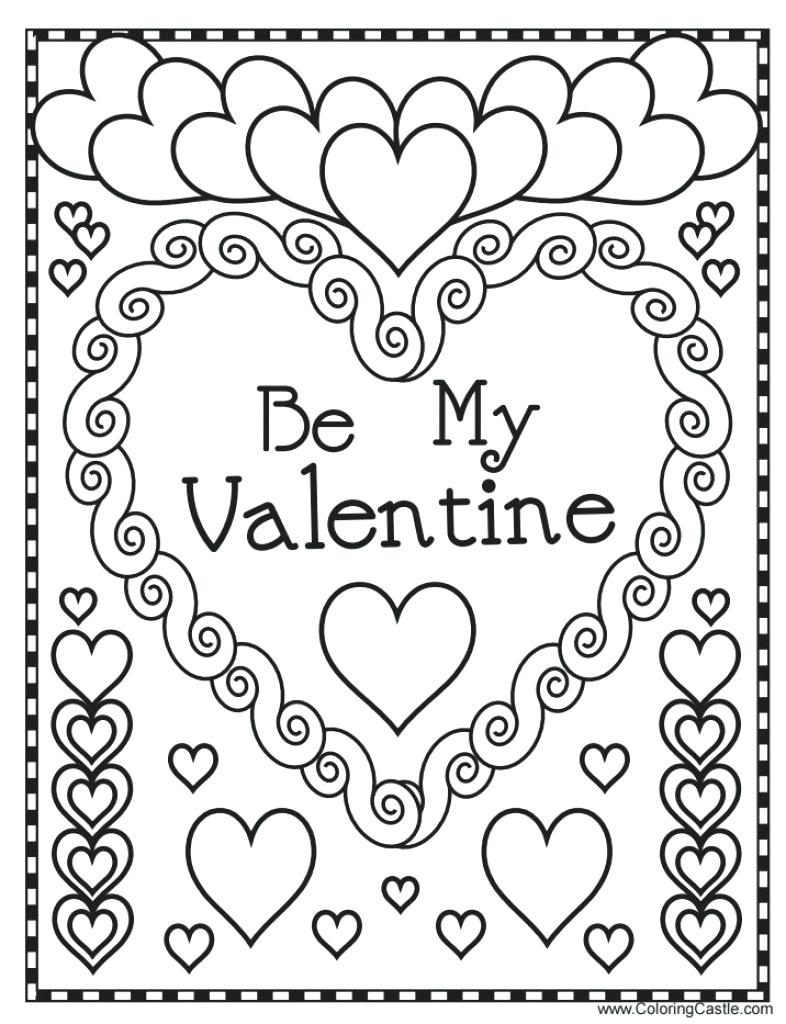 786x1024 Valentine Day Coloring Pages With In Valentines For Adults