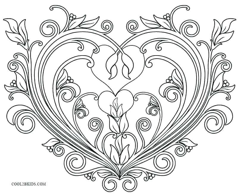 800x650 Valentines Color Page Printable Valentines Day Coloring Pages Be