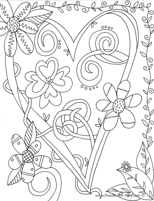 615x800 Valentines Day Coloring Pages