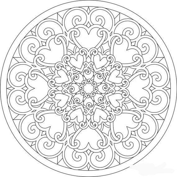 570x570 Valentines Day Coloring Pages For Adults Valentines Day Coloring