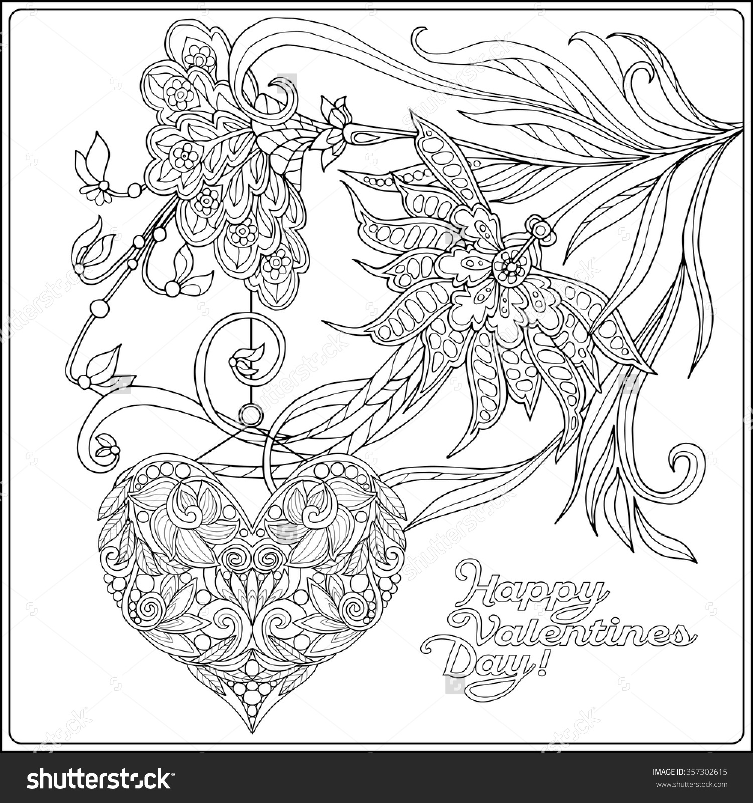 1500x1600 Flower Happy Valentine Coloring Pages Alric Throughout Valentines