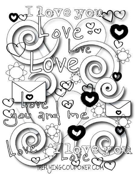450x593 Free Printable Valentines Day Coloring Pages For Adults Best