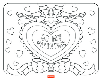 396x306 Valentine's Day Coloring Pages For Kids Shutterfly