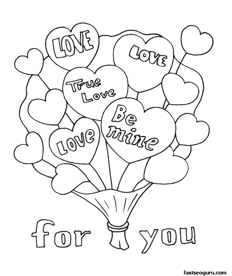 Valentines Day Coloring Pages For Boys At Getdrawings Com Free For