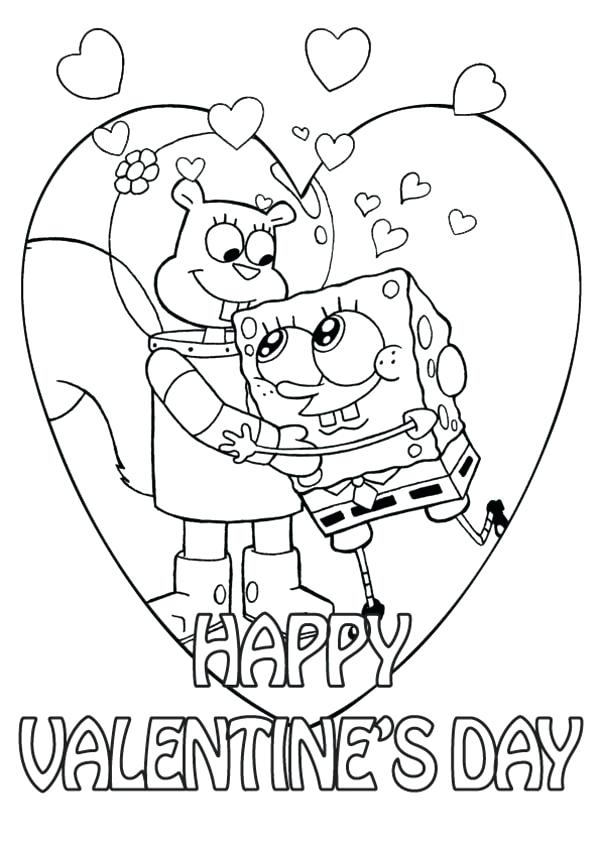 600x849 Valentines Day Coloring Pages Free Printable Printable Coloring