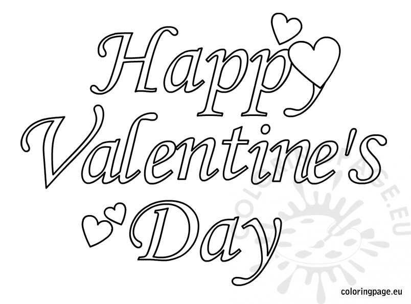 804x595 Valentines Day Colouring Pages Printable Happy Valentines