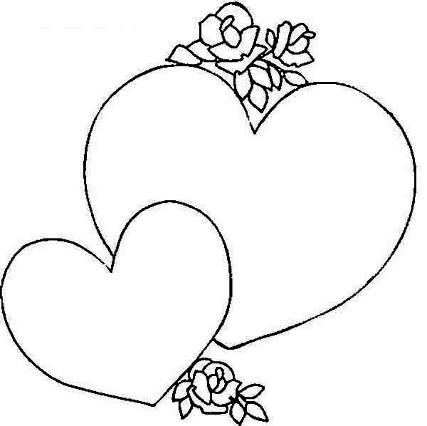 600x598 Giving A Heart Shaped Gift Box On Valentine's Day Coloring Page