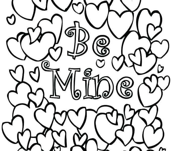 image about Valentines to Color Printable known as Valentines Working day Coloring Web pages For Little ones at