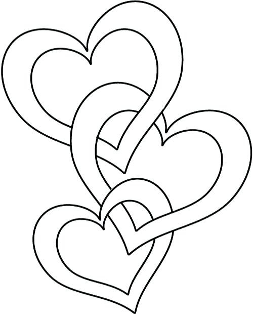 500x620 Valentines Day Heart Coloring Pages