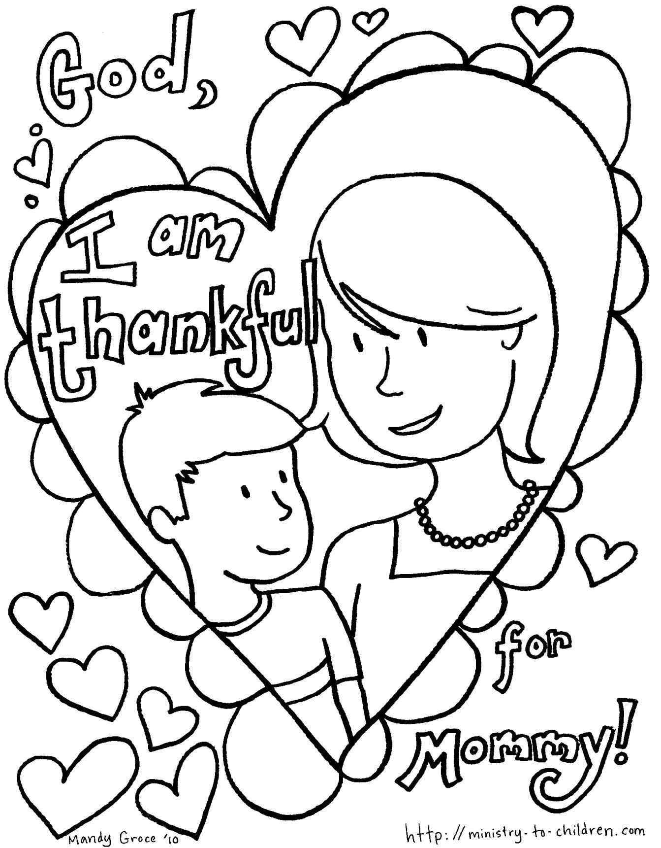 Valentines Day Coloring Pages For Mom
