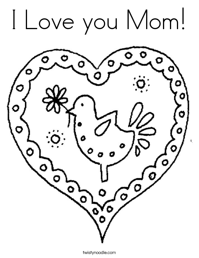 Valentines Day Coloring Pages For Mom At Getdrawings Com Free For