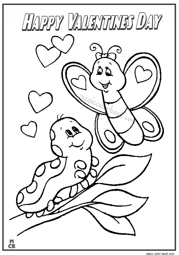 685x975 Happy Valentines Day Coloring Pages