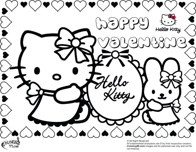 800x620 Valentines Color Page Cute Hello Kitty Happy Valentines Day