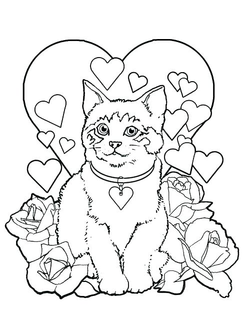 500x651 Valentines Coloring Pages Valentine Coloring Sheets Free Printable