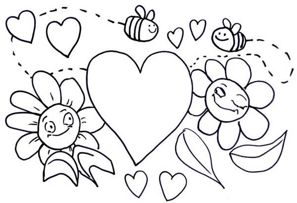 600x410 Valentines Day Coloring Pages For Adults Preschool Teachers