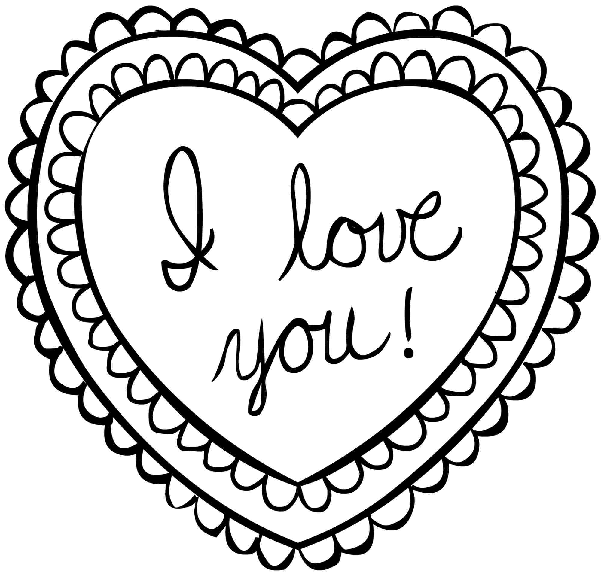 2000x1921 Valentines Day Coloring Pages I Love You