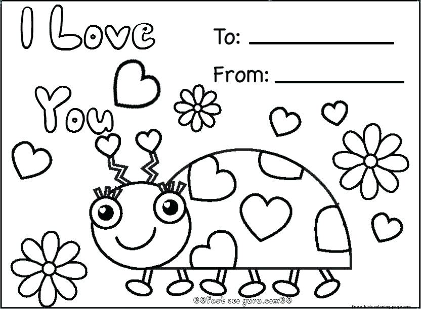 832x612 Valentines Day Printables For Kids Coloring Pages Valentines Day