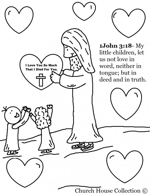 520x673 Jesus Quote Valentine Day Coloring Pages For Sunday School Ccd