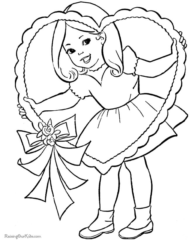 670x820 Pleasurable Design Ideas Valentines Day Color Page Valentine Day