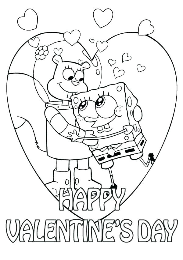 600x849 Preschool Valentine Coloring Pages Valentine Coloring Pages