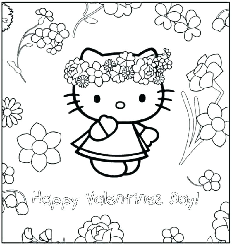793x837 Toddler Color Pages Hello Kitty Valentines Day Coloring Pages