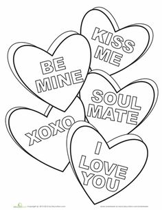 Valentines Day Hearts Coloring Pages