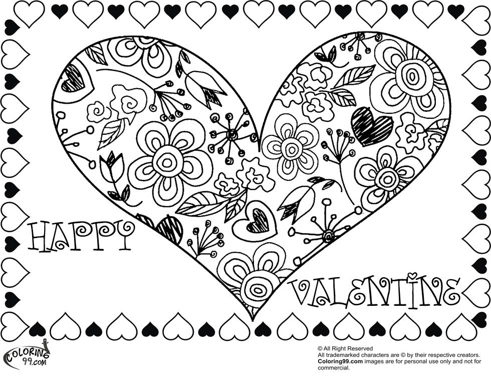 980x750 Valentine Heart Coloring Pages Minister Coloring